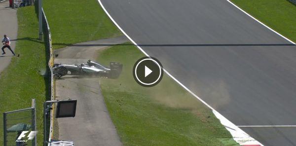 F1オーストリアGP、予選、ロズベルグクラッシュ